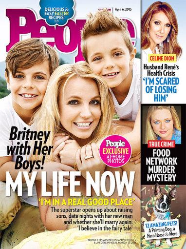"""Žurnalo """"People"""" viršelis/Britney Spears su sūnumis Seanu Prestonu ir Jaydenu Jamesu"""
