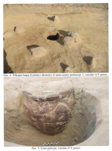 Archeologų nuotr,/Pilkapis, kuriame aptikta urna