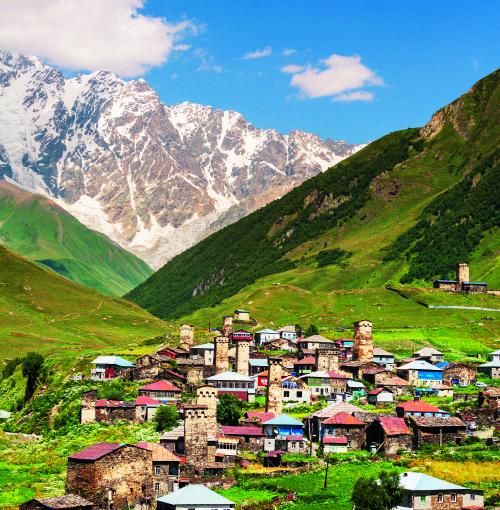 """""""Novaturo"""" nuotr./Svanetijos regionas, kuriame yra Ušguli kaimas, yra įtrauktas į UNESCO paveldo objektų sąrašą"""