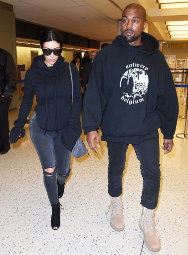 """Scanpix""/Xposurephotos.com nuotr./Kim Kardashian ir Kanye Westas"
