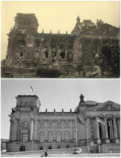 """Reuters""/""Scanpix"" nuotr./Berlynas 1945 m. ir 2015 m."