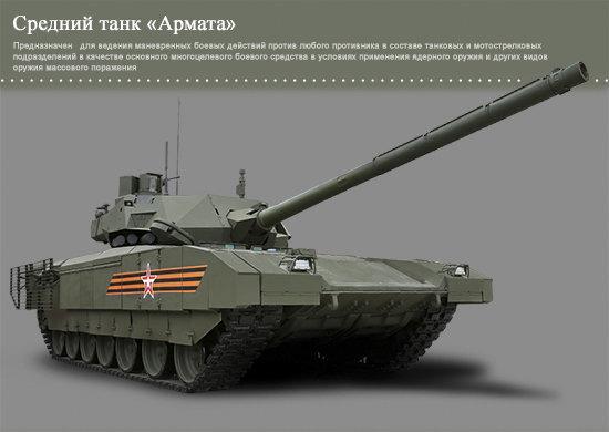 Rusijos gynybos ministerija./T-14 Armata tankas.