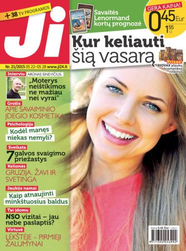 """Redakcijos archyvo nuotr./Žurnalo """"Ji"""" viršelis (21 nr.)"""
