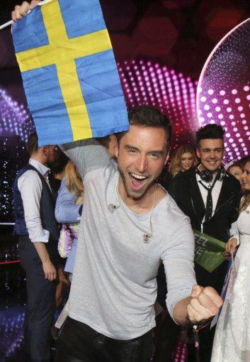 """""""Scanpix""""/AP nuotr./Švedijos atstovas Mansas Zelmerlowas"""
