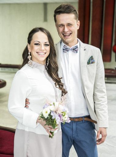 Viganto Ovadnevo/Žmonės.lt nuotr./Inetos Puzaraitės ir Ąžuolo Žvagulio vestuvės