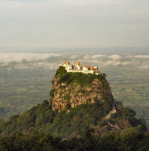 Vida Press nuotr./Budistų vienuolynas Taung Kalatas