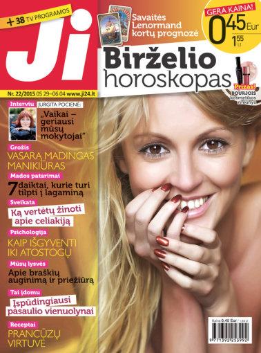 """Redakcijos archyvo nuotr./Žurnalo """"Ji"""" viršelis (22 nr.)"""