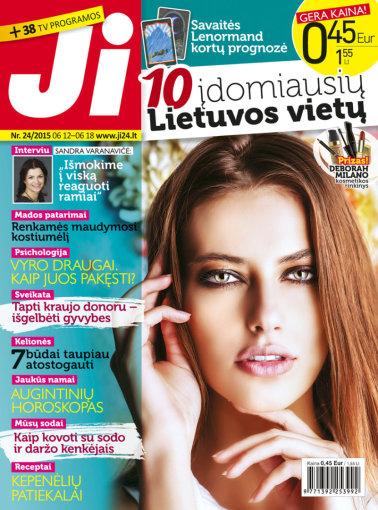 """Redakcijos archyvo nuotr./Žurnalo """"Ji"""" viršelis (24 nr.)"""