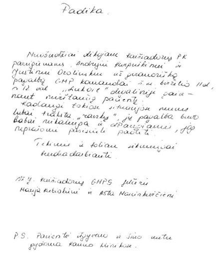 Kaišiadorių PK nuotr./Medikės padėka policininkams