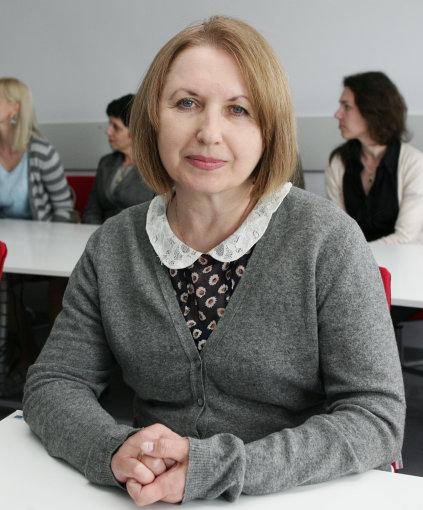 """Atviro tarptautinio žmogiškosios raidos universiteto """"Ukraina"""" Socialinio darbo pedagogikos katedros vedėja Natalija Dovgan. Z.Ripinskio nuotr."""