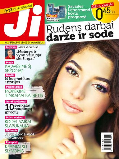 """Redakcijos archyvo nuotr./Žurnalo """"Ji"""" viršelis (Nr. 38)"""