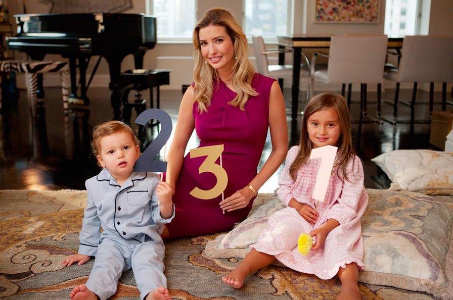 Ivanka Trump su dukra Arabella ir sūnumi Josephu