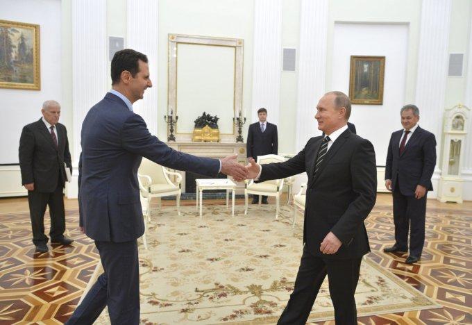 """""""Reuters""""/""""Scanpix"""" nuotr./Sirijos prezidentas Basharas al Assadas susitinka su Vladimiru Putinu"""