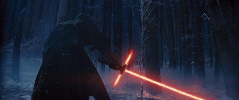 """Filmo scena iš """"Žvaigždžių karai: galia nubunda""""."""