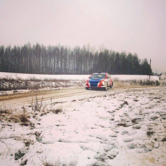 """Skaitytojo Žygimanto nuotr./""""Halls Winter Rally"""" istorija: Ramūnas Čepkauskas (2015 m.)"""