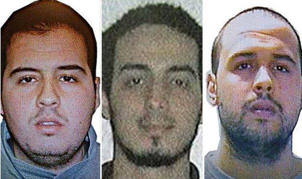 """Twitter"" nuotr./Broliai Khalidas El-Bakraoui ir Ibrahimas El-Bakraoui ir Najimas Laachraoui"