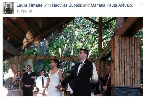 """Facebook"" nuotr./Radvilo Bubelio ir Marianos Pautos Arevalo vestuvės"