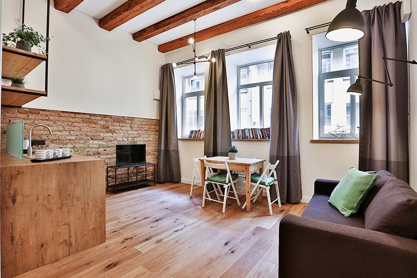 Apartamentų turistams Vilniaus senamiestyje interjeras