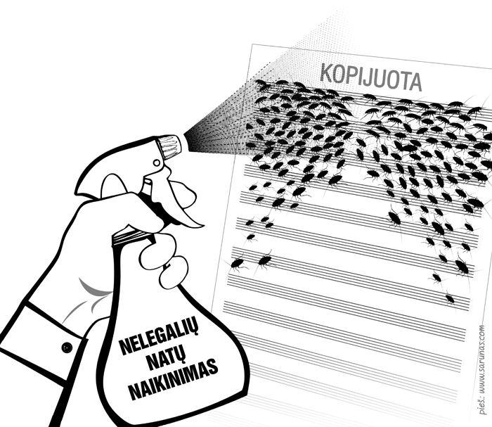 Natų knygyno karikatūra