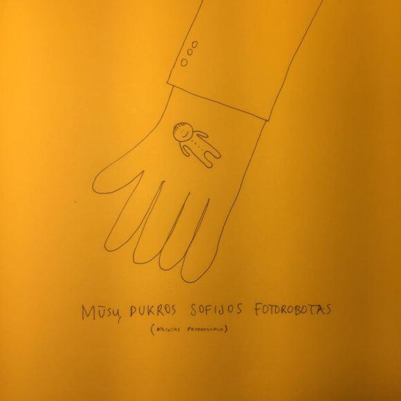 """Tomo Ramanausko piešinys, kuriuo iliustruotas tekstas """"Facebooke""""."""
