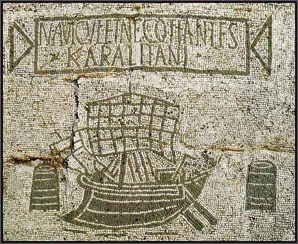 Wikipedia.com/Ostia antica grindinio mozaikos