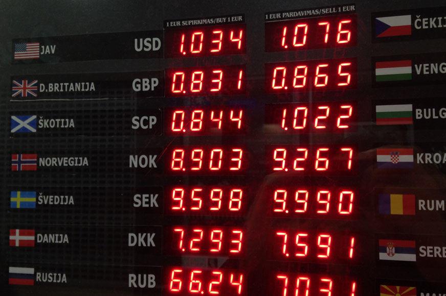 valiutos kursas skaičiuoklė