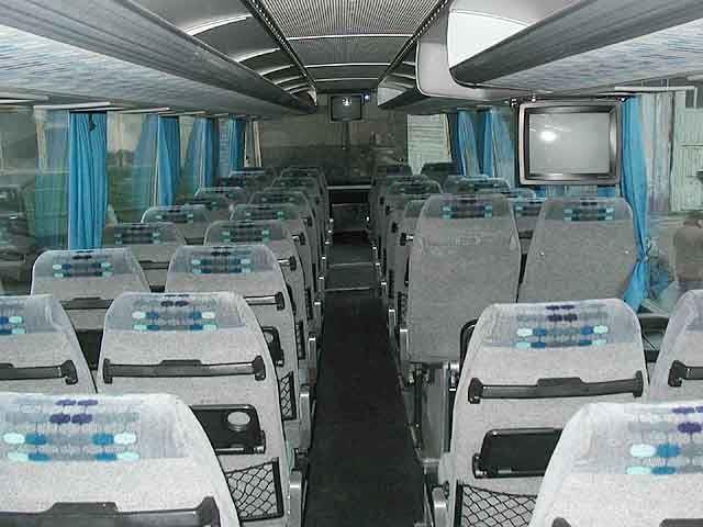 Autobuso salonas prieš 10 metų