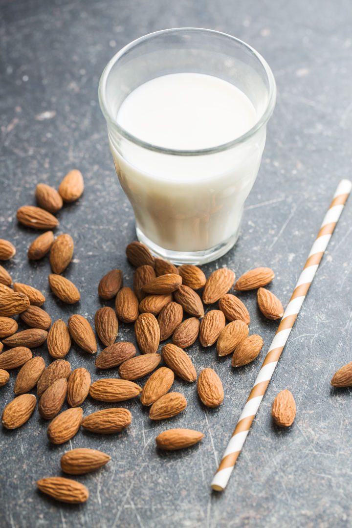 širdies sveikatos migdolų pienas