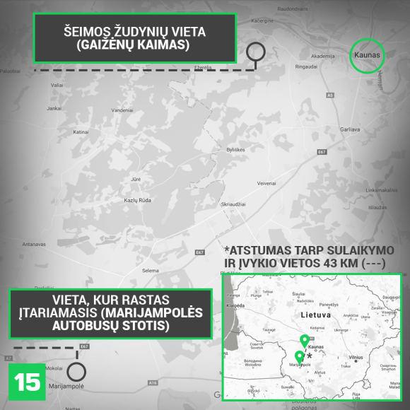 15min nuotr./Po masinės žmogžudystės Gaižėnuose įtariamasis buvo sulaikytas Marijampolėje