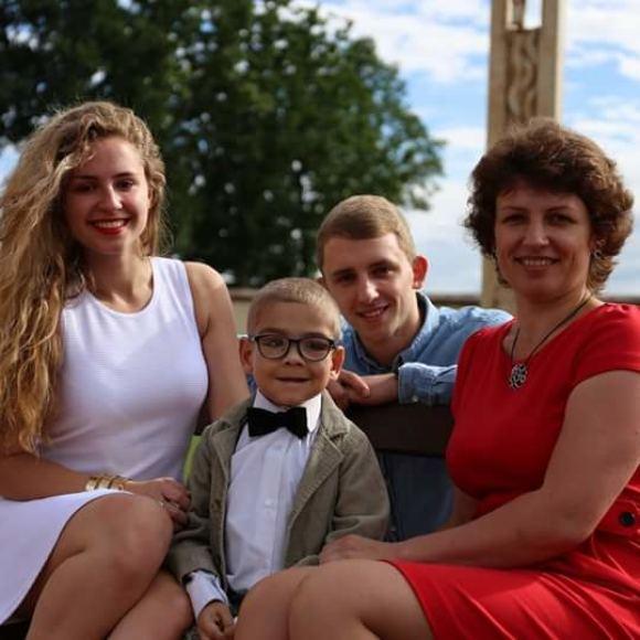 Asmeninio archyvo nuotr./Gustas su šeima