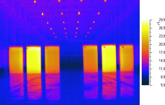 Ignalinos atominės elektrinės nuotr./Terminė branduolinio kuro konteinerių nuotrauka saugykloje