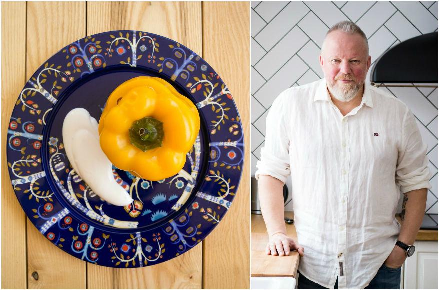 Vytaras Radzevičius ir jo ruoštas patiekalas