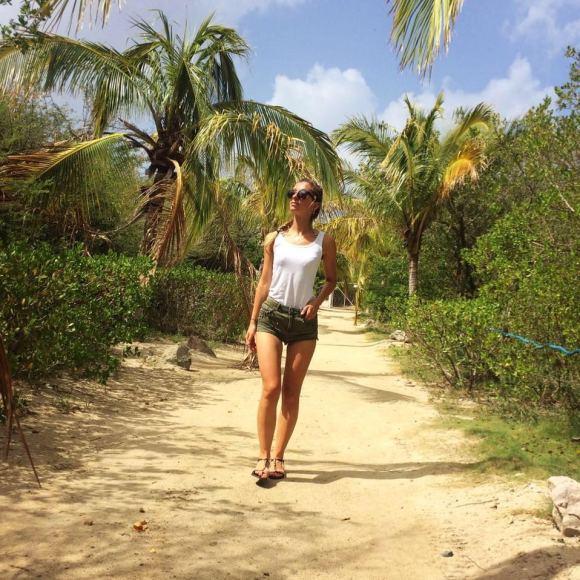 Asmeninė nuotr./Beatričė Paškevičiūtė šiuo metu gyvena Šv. Bartolomėjaus saloje Karibuose