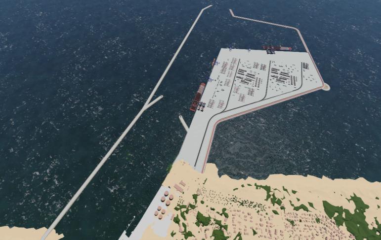 Maždaug taip turėtų atrodyti išorinis uostas Melnragėje.