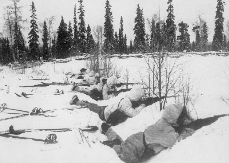 Suomiai savo pozicijose 1940 m. sausį