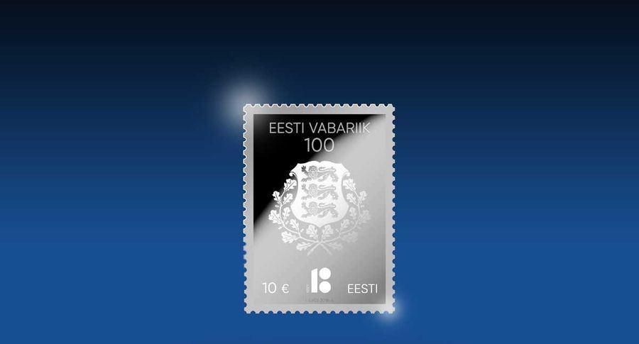 Estija savo nepriklausomybės 100-mečio proga išleis pašto ženklą iš gryno sidabro