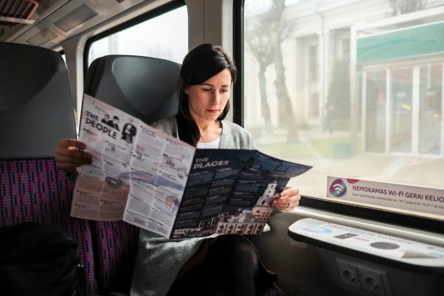 Kauno reklama traukiniuose