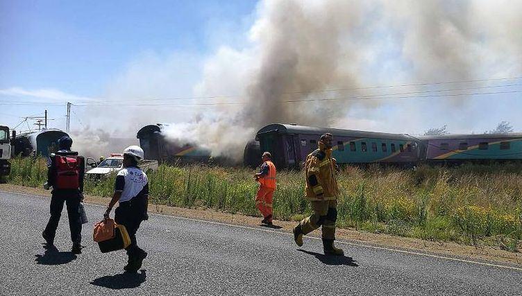 PAR įvyko traukinio avarija