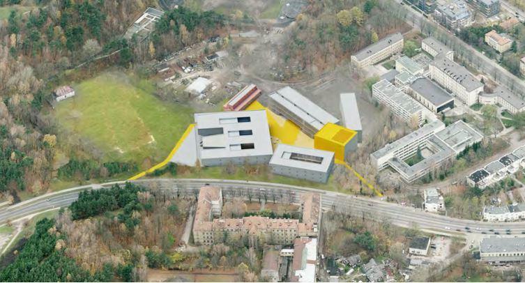 Planuojamas LMTA pastatų kompleksas Olandų gatvėje