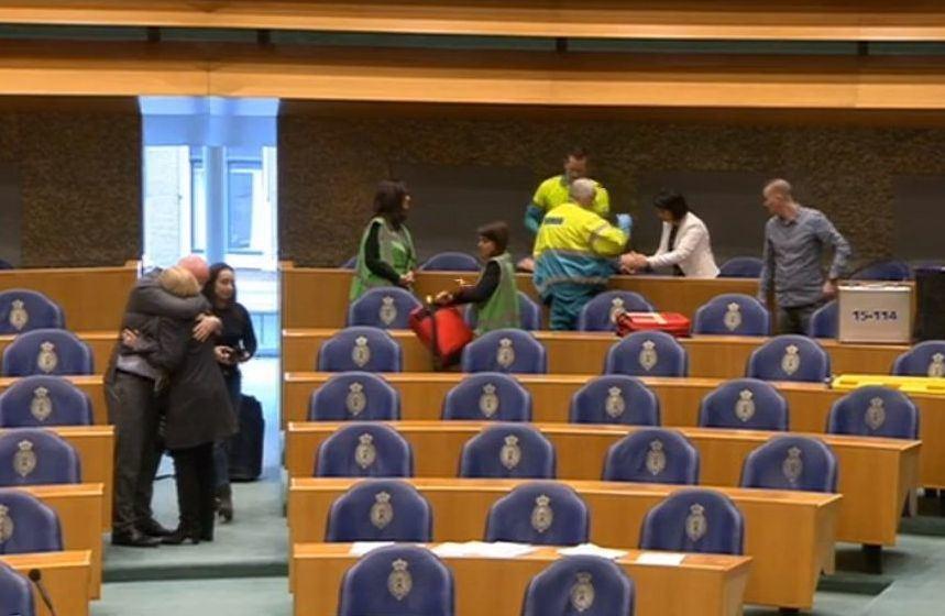 Nyderlandų parlamentarus sukrėtė incidentas