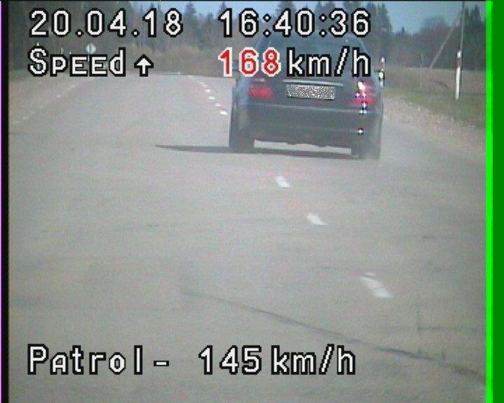 Sulaikytas greitį viršijęs vairuotojas