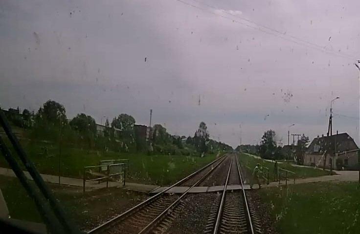 Prieš traukinį stojęs vyras