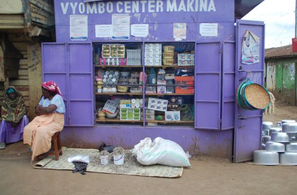 Kioskas Kenijos sostinėje Nairobyje