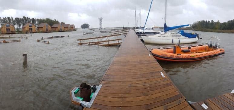 Drevernos uoste trečiadienio vakarą dėl vėjo  kelioms valandoms pakilo vandens lygis.