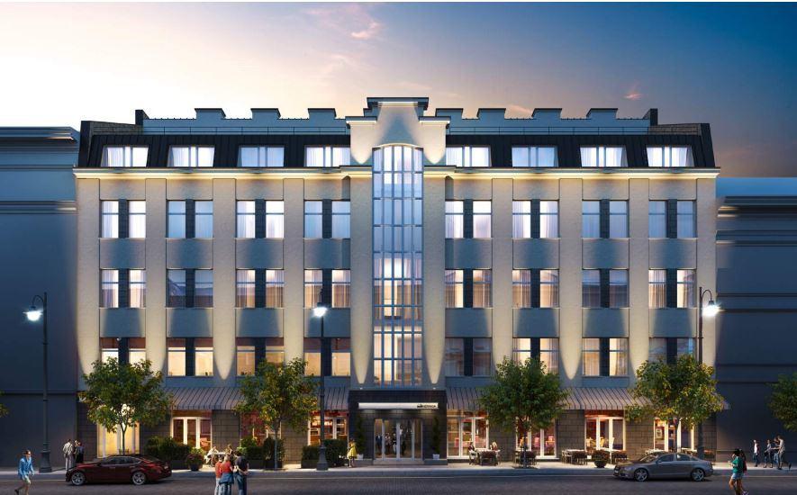 """Taip turėtų atrodyti """"Neringos"""" viešbutis po rekonstrukcijos"""