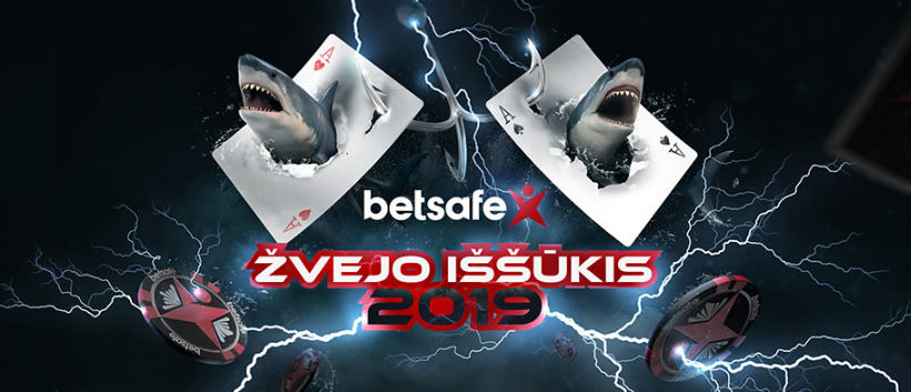 """Didžiausias Lietuvos gyvo pokerio turnyras """"Betsafe Žvejo Iššūkis 2019"""""""