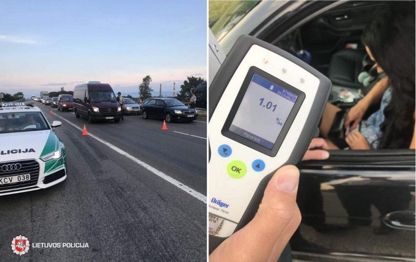 Girti vairuotojai keliuose