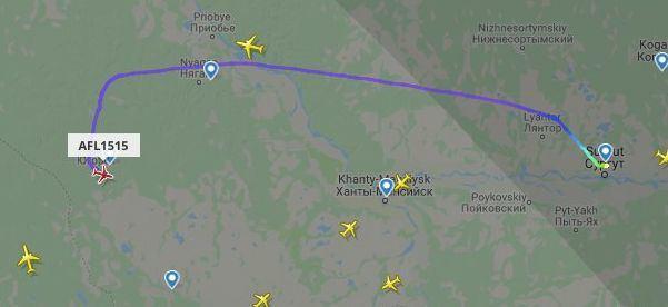 Lėktuvas skrido iš Surguto į Maskvą