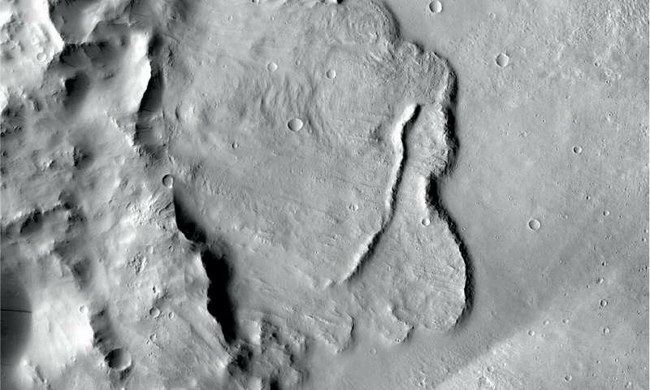 Marso paviršiuje kadaise tvyrojo vanduo