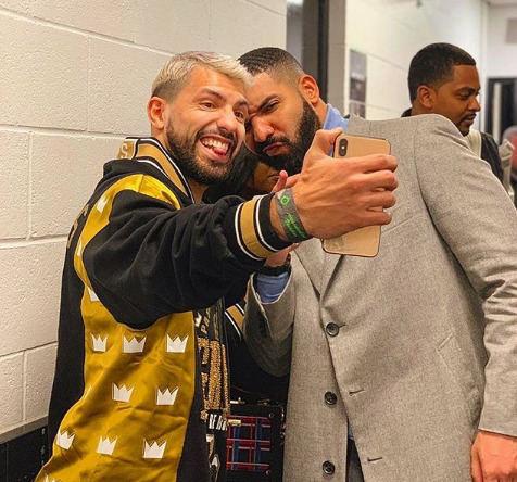 Drake'as ir Sergio Aguero